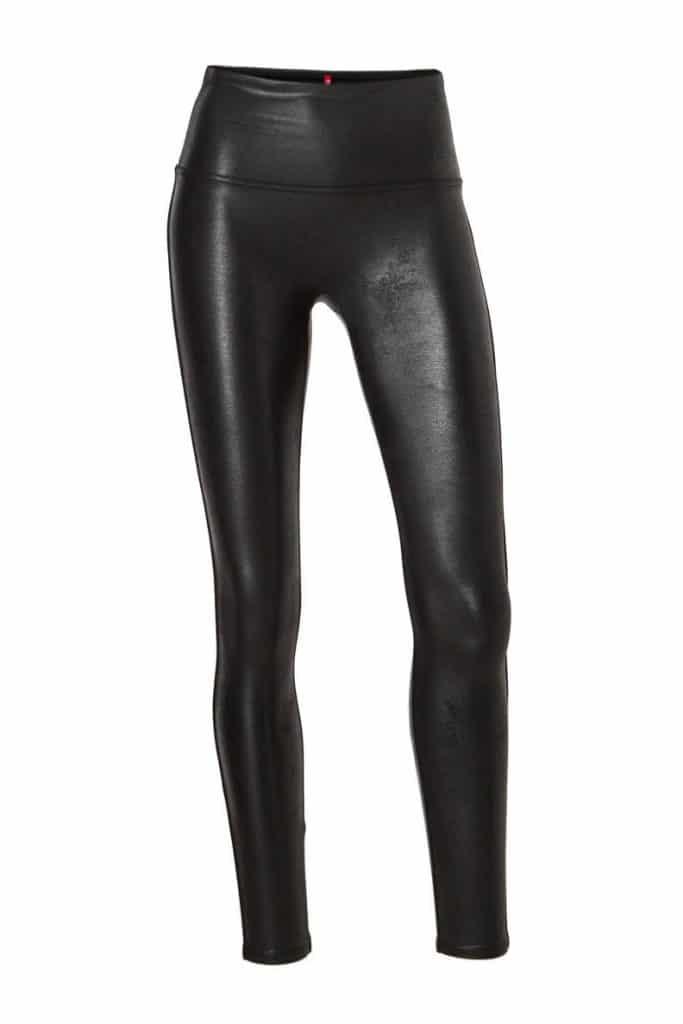 zwart lederlook legging strak