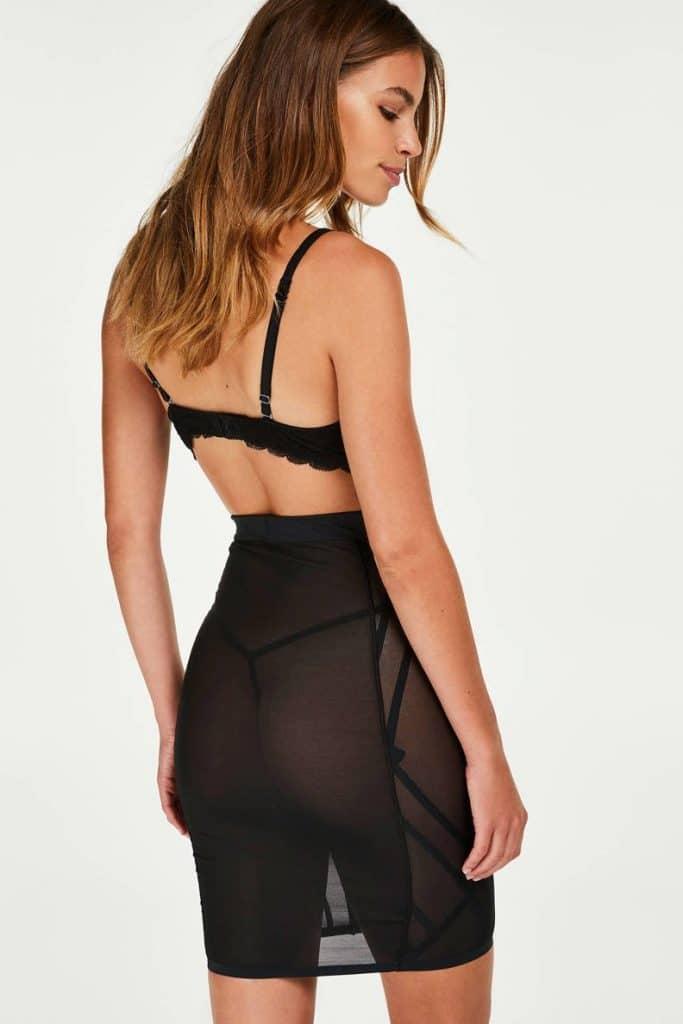 zwarte shapwear rok
