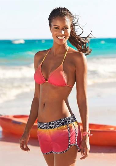 zwemshort in batik look voor dames